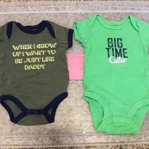 Multiples One Pieces - 0/3 month baby boy lot - 20 pieces